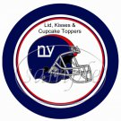 New York Giants ~ (Faux) Cupcake Picks & Toppers