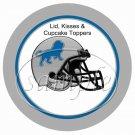 Detroit Lions ~ (Faux) Cupcake Picks & Toppers