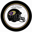 Baltimore Ravens ~ (Faux) Cupcake Picks & Toppers