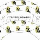 New Orleans Saints ~ Faux NFL Cupcake Paper Wrappers ~ Set of 1 Dozen
