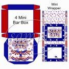 America ~  Hershey's Mini Candy Bar 4 Wrapper Box