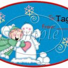 Snow Angels Assorted Gift Tags  ~ Set of 1 Dozen
