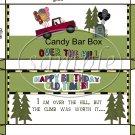 Happy Birthday Old Timer Standard Size Candy Bar Box