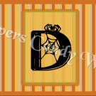 Halloween Striped MINI Candy Bar Alphabet Wrappers