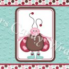 Love Bug Ladybug Set #1 ~ MINI Candy Bar Wrapper