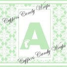 Mint Green Baby Damask MINI Candy Bar Alphabet & Numbers Wrappers