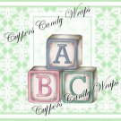 Mint Green Baby Damask EXTRAS Set #4 ~ MINI Candy Bar Wrappers