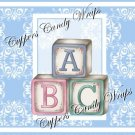 Blue Baby Damask EXTRAS Set #4 ~ MINI Candy Bar Wrappers