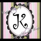 Pastel Jungle Pink   MINI Candy Bar Alphabet  & Numbers Wrappers