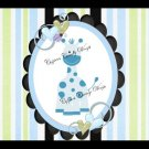 Pastel Jungle Blue EXTRAS Set #1 ~ MINI Candy Bar Wrappers