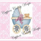 Pink Baby Damask EXTRAS Set #2 ~ MINI Candy Bar Wrappers