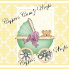 Yellow Baby Damask EXTRAS Set #1 ~ MINI Candy Bar Wrappers