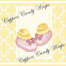 Yellow Baby Damask EXTRAS Set #4 ~ MINI Candy Bar Wrappers