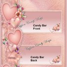 Floral Rose Candy Bar Wrapper