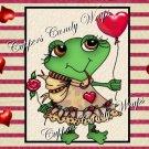 Valentine Frog  ~  Hershey's Mini Candy Bar 4 Wrapper Box