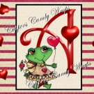 Valentine Frog MINI Candy Bar Alphabet & Numbers Wrappers