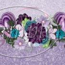 Purple Hearts ~ Quart Glass Jar Set