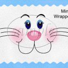 Bunny Blue Easter   ~ MINI Candy Bar Wrappers
