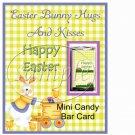 Bunny & Eggs ~ Easter ~ Mini Candy Bar Greeting Card