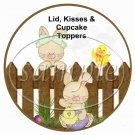 Picket Fence ~ Easter ~ Cupcake Picks & Toppers