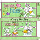 Bunny Hugs ~ Easter ~ Standard Size Candy Bar Box
