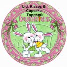 Bunny Hugs ~ Easter ~ Cupcake Picks & Toppers