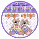 Colored Eggs ~ Easter ~ Cupcake Picks & Toppers