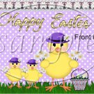 Purple Easter Chick ~ Easter ~ Gallon Can Set