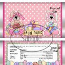 Flowered Bunny  ~  Easter ~ Standard Size Candy Bar