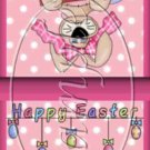 Flowered Bunny ~ Easter ~ Mint Matchbook Cover