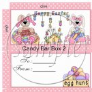 Flowered Bunny  #2 ~ Easter ~ Standard Size Candy Bar Box