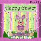 Fuzzy Bunny ~ Easter ~ Gallon Can Set