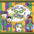 Mardi Gras Stripes ~ Gallon Can Set