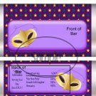 Madri Gras Purple Stars ~ Standard Size Candy Bar