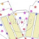 Colorful Stars Patriotic Cake ~ Cake Slice Box