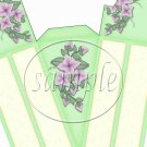 Mint Green and Flowers ~ Florals ~ Cake Slice Box