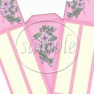 Pink with Flowers ~ Florals ~ Cake Slice Box