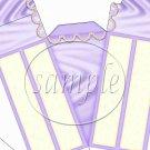 Purple Cake with Pearls ~ Cake Slice Box