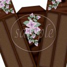 Chocolate Cake and Flowers ~ Florals ~ Cake Slice Box