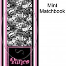Bunco Game Stripes ~ Mint Matchbook Cover