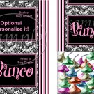 Bunco Game Stripes ~ Bag Topper 1 Dozen