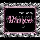 Bunco Game Stripes ~ Gallon Can Set