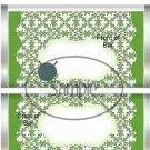 Knitting Yarn & Needles Green ~ Standard Size Candy Bar Wrapper