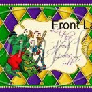 Argyle Mardi Gras Set #1 ~ Pint Glass Jar Set