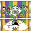 Mardi Gras Stripes ~ Standard Size Candy Bar Wrapper