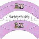 Argyle Mardi Gras Set Cupcake Paper Wrappers ~ Set of 1 Dozen