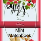 Flowered Mother's Day ~ Mint Matchbook Cover