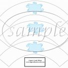 White Wrapper Solid Light Blue Curley Text Box ~  Cupcake Paper Wrappers ~ Set of 1 Dozen