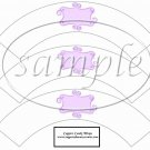 White Wrapper Solid Light Lavender Curley Text Box ~  Cupcake Paper Wrappers ~ Set of 1 Dozen