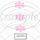 White Wrapper Solid Light Pink Curley Text Box ~  Cupcake Paper Wrappers ~ Set of 1 Dozen